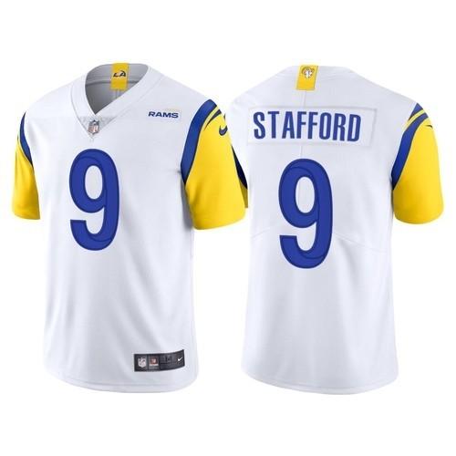 Nike Rams 9 Matthew Stafford White Vapor Untouchable Limited Jersey