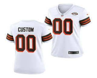 Women's Cleveland Browns ACTIVE PLAYER Custom 1946 Vapor Stitched Football Jersey(Run Small)
