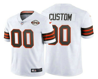 Men's Cleveland Browns ACTIVE PLAYER Custom 1946 Vapor Stitched Football Jersey