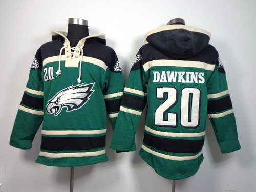 Philadelphia Eagles  20 Brian Dawkins 2014 Dark Green Hoodie on sale ... 00144beae