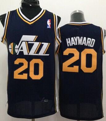 new concept 877e2 c3194 Utah Jazz #20 Gordon Hayward Navy Blue Swingman Jersey on ...