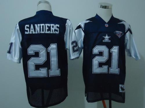 premium selection 32590 811e9 Dallas Cowboys #21 Deion Sanders Blue Thanksgiving 75TH ...