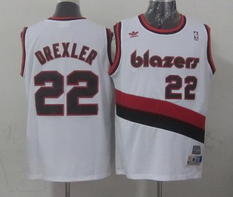 buy popular f49ba d8ce7 Portland Trail Blazers #22 Clyde Drexler White Swingman ...