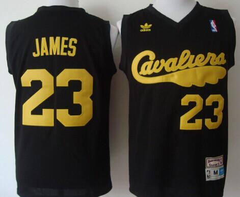 newest eb1fb 25471 Cleveland Cavaliers #23 LeBron James 2009 Black Swingman ...