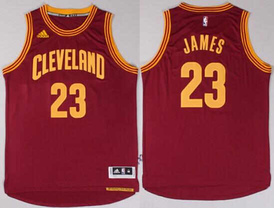 Cleveland Cavaliers  23 LeBron James Revolution 30 Swingman 2014 New Red  Jersey e9376e368