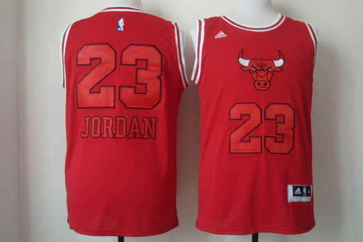 size 40 c5dd4 8e4bf Chicago Bulls #23 Michael Jordan Red With Red Fashion Jersey ...