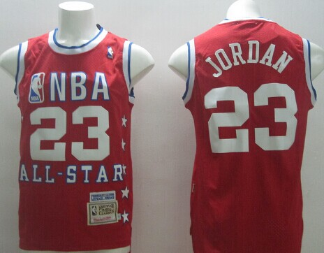 NBA 1989 All-Star #23 Michael Jordan Red Swingman Throwback Jersey