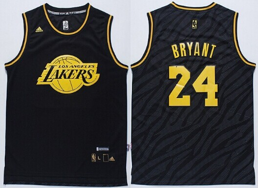 Los Angeles Lakers  24 Kobe Bryant Revolution 30 Swingman 2014 Black With  Gold Jersey 333393d31