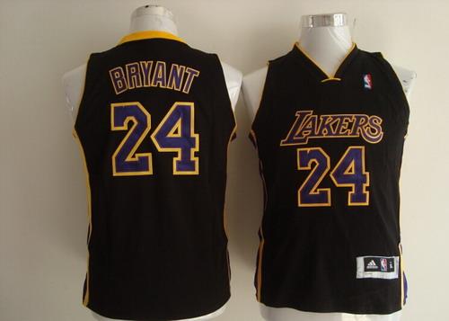 Los Angeles Lakers #24 Kobe Bryant Black Kids Jersey on sale,for ...
