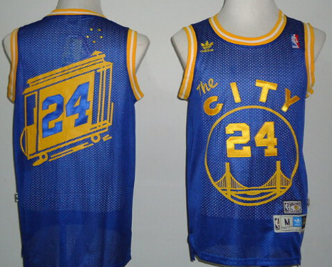c5289fcb9 Golden State Warriors  24 Rick Barry The City Blue Swingman Throwback Jersey