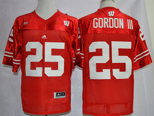 cheap for discount 69cee 67b0f Wisconsin Badgers #25 Melvin Gordon III Red Jersey on sale ...