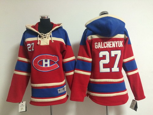 Old Time Hockey Montreal Canadiens #27 Alex Galchenyuk Red Kids Hoodie