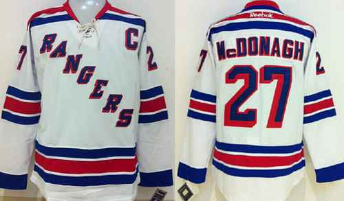 quality design 08573 c11af New York Rangers #27 Ryan Mcdonagh White Jersey on sale,for ...