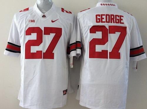 Ohio State Buckeyes #27 Eddie George 2014 White Limited Kids Jersey