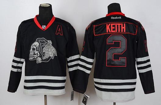 chicago blackhawks black skull jersey