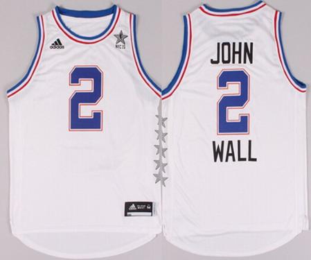 2015 NBA Eastern All-Stars #2 John Wall Revolution 30 Swingman White Jersey
