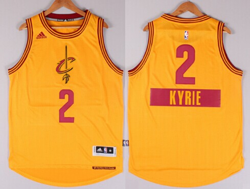 87e849a5 Cleveland Cavaliers #2 Kyrie Irving Revolution 30 Swingman 2014 Christmas  Day Yellow Jersey