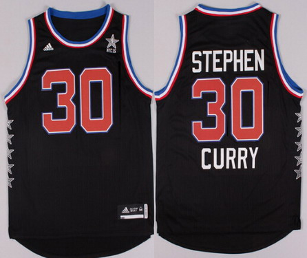2015 NBA Western All-Stars #30 Stephen Curry Revolution 30 Swingman Black Jersey