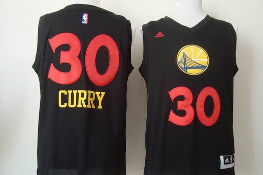 online store d4c24 a514a Golden State Warriors #30 Stephen Curry 2015 Black With Red ...