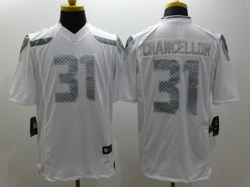 Nike Seattle Seahawks #31 Kam Chancellor Platinum White Limited ...