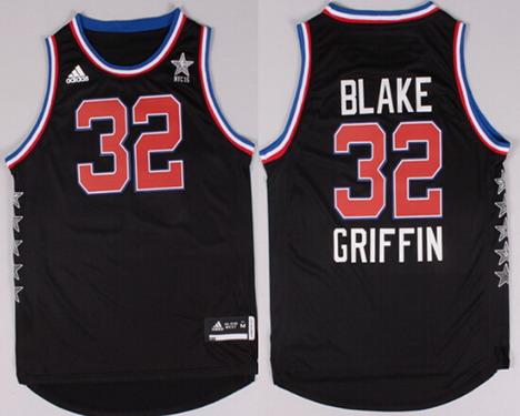 2015 NBA Western All-Stars #32 Blake Griffin Revolution 30 Swingman Black Jersey
