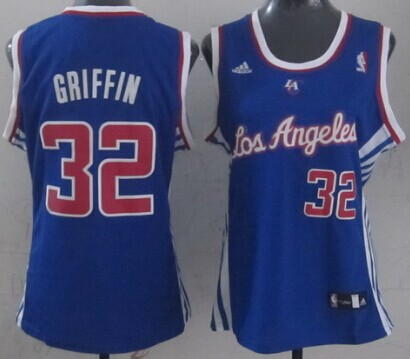 Los Angeles Clippers #32 Blake Griffin Blue Womens Jersey