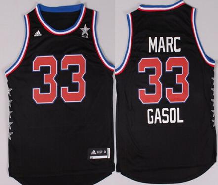 2015 NBA Western All-Stars #33 Marc Gasol Revolution 30 Swingman Black Jersey