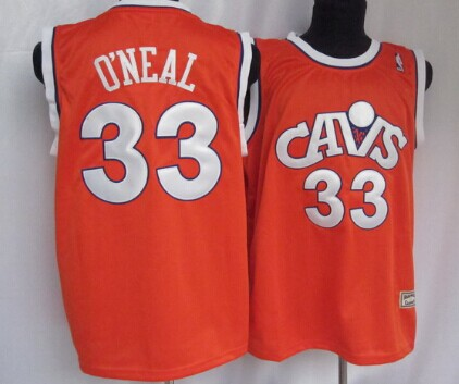 3ff459e67 Cleveland Cavaliers  33 Shaquille O neal CavFanatic Orange Swingman  Throwback Jersey