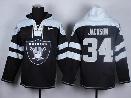 Nike Oakland Raiders  34 Bo Jackson 2014 Black Hoodie f7e0b5ca9