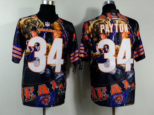 Nike Chicago Bears #34 Walter Payton 2014 Fanatic Fashion Elite Jersey