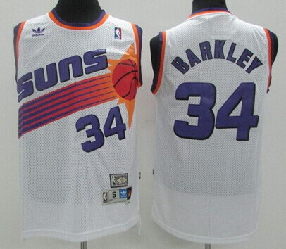 low priced e0c74 71d2e Phoenix Suns #34 Charles Barkley White Swingman Throwback ...
