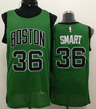 best website 322a5 54b3f Boston Celtics #36 Marcus Smart Green With Black Swingman ...
