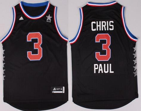 2015 NBA Western All-Stars #3 Chris Paul Revolution 30 Swingman Black Jersey