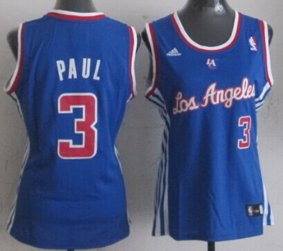 Los Angeles Clippers #3 Chris Paul Blue Womens Jersey