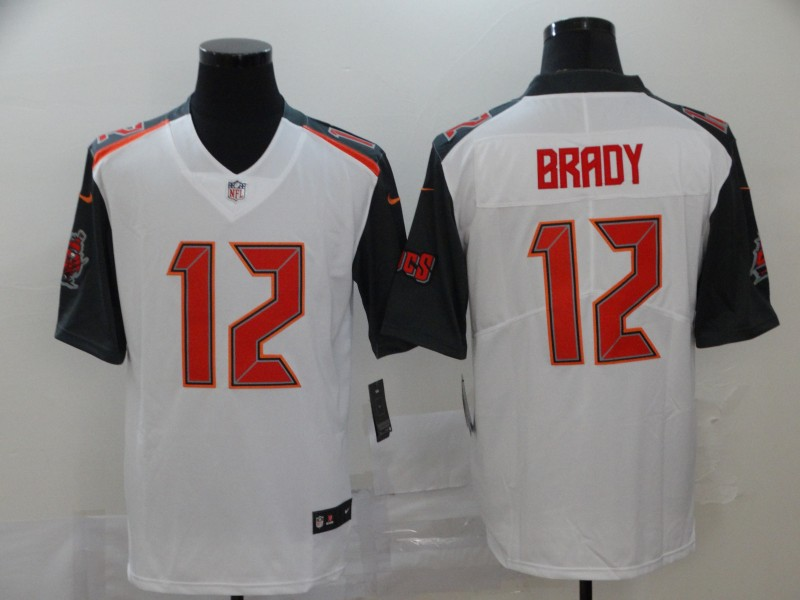 Men's Tampa Bay Buccaneers #12 Tom Brady White 2020 Vapor Untouchable Stitched NFL Nike Limited Jersey
