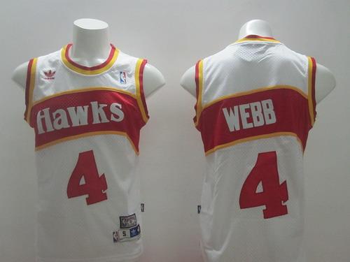 ed5f8b92d Atlanta Hawks  4 Spud Webb White Swingman Throwback Jersey on sale ...