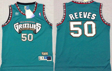 55a84f01987 ... where to buy memphis grizzlies 50 bryant reeves aba hardwood classics  green throwback swingman jersey 40494