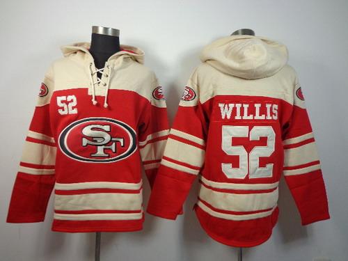 San Francisco 49ers #52 Patrick Willis 2014 Red Hoodie