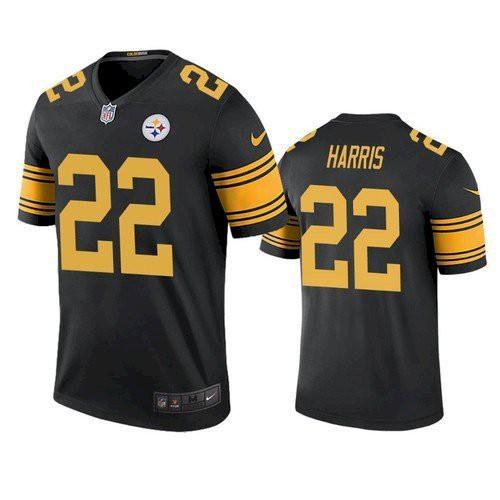 Men's Pittsburgh Steelers #22 Najee Harris Black Color Rush Limited Jersey