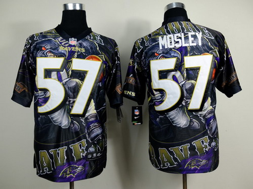 nike baltimore ravens 57 c.j. mosley 2014 fanatic fashion elite jersey