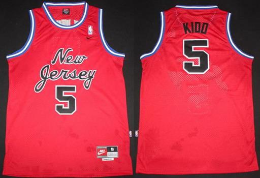 edf45da6 New Jersey Nets #5 Jason Kidd Red Swingman Jersey on sale,for Cheap ...