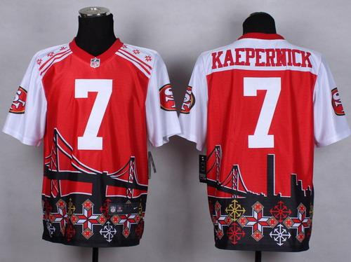 online store efad4 81d82 Nike San Francisco 49ers #7 Colin Kaepernick 2015 Noble ...