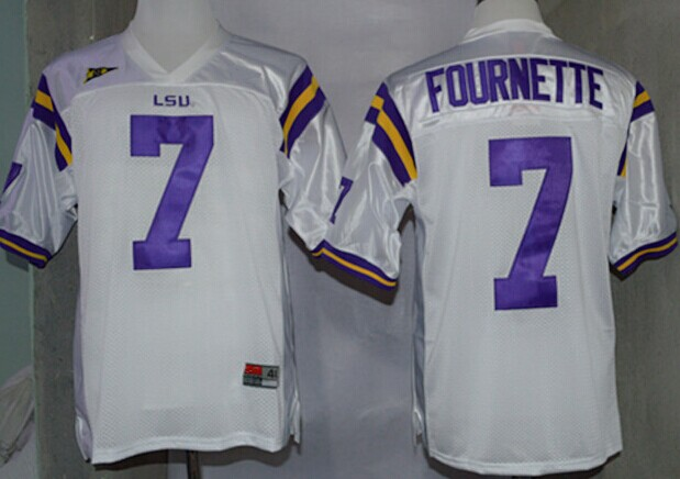 designer fashion 44427 bfa19 LSU Tigers #7 Leonard Fournette White Jersey on sale,for ...