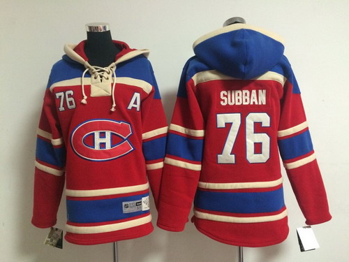 Old Time Hockey Montreal Canadiens #76 P.K. Subban Red Kids Hoodie