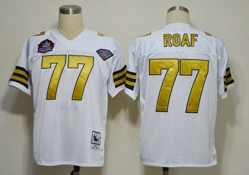 New Orleans Saints #77 Willie Roaf Hall of Fame White Throwback ...