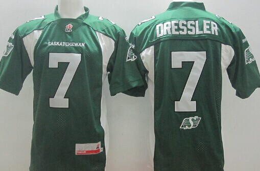 CFL Saskatchewan Roughriders #7 Weston Dressler Green Jersey