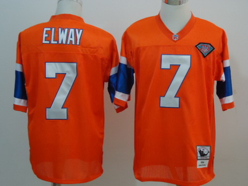 first rate c134b ad48d Denver Broncos #7 John Elway Orange Throwback 75TH Jersey on ...