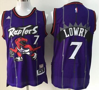 4b65f2539ee Toronto Raptors  7 Kyle Lowry Hardwood Classic Purple Swingman Jersey