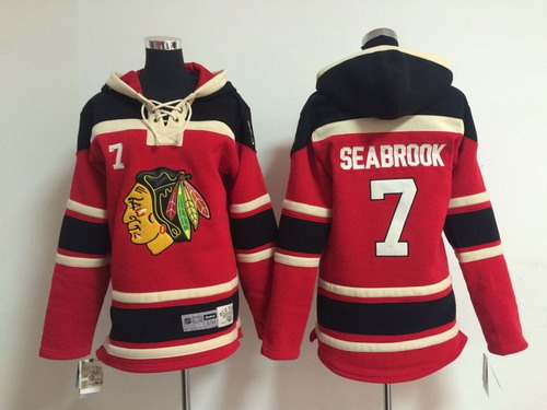 Old Time Hockey Chicago Blackhawks #7 Brent Seabrook Red Kids Hoodie