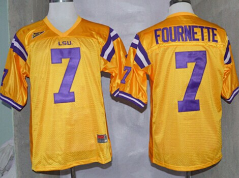 check out 670fa 6cfff LSU Tigers #7 Leonard Fournette Yellow Jersey on sale,for ...